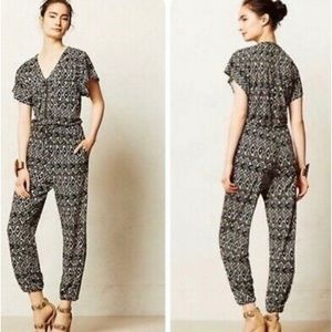 COREY LYNN CALTER Franca Ikat Print Jumpsuit Sz M